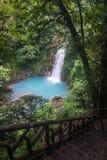 Водопад реки Рио Celeste Стоковые Фотографии RF