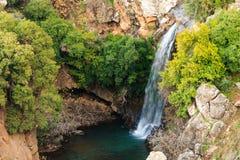 Водопад реки Саара, Голанские высоты, Израиль Стоковое Фото