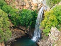 Водопад реки Саара, Голанские высоты, Израиль Стоковая Фотография RF
