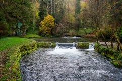 Водопад реки Bosna около Сараева Стоковое Фото