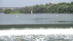 Водопад Североамериканское река Ландшафт акции видеоматериалы