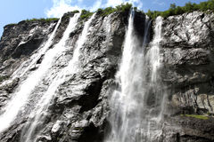 Водопад 7 сестер, фьорд Geiranger, Норвегия Стоковое Фото