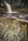 Водопад силы Thornton, Йоркшир стоковое фото rf