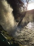 Водопад силы Thornton, падения ingleton Стоковые Фото