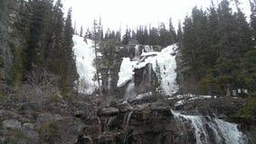 Водопад 3 скалистых гор Стоковая Фотография