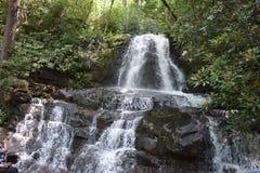 Водопад среди деревьев Стоковое Изображение