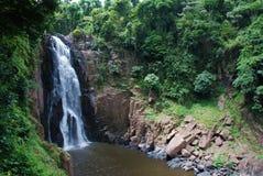 Водопад с горами в стране Шри-Ланка стоковые изображения rf
