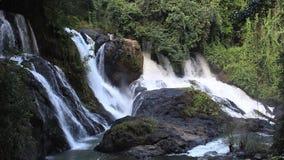 Водопад Таиланда в джунглях акции видеоматериалы