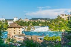 Водопад Швейцария Рейна стоковая фотография rf