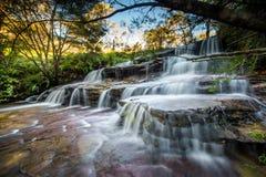 Водопады в голубом национальном парке гор Стоковое фото RF