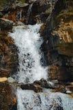 Водопады заводи путать в национальном парке яшмы, Альберте, Канаде Стоковое фото RF