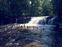 Водопады на национальном парке Phnom Kulen Стоковые Изображения RF