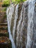 Водопады на Monasterio de Piedra, Сарагосе, Арагоне, Испании Стоковые Фотографии RF