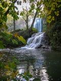 Водопады на Monasterio de Piedra, Сарагосе, Арагоне, Испании Стоковая Фотография