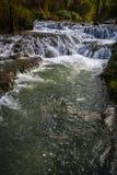 Водопады на Monasterio de Piedra, Сарагосе, Арагоне, Испании Стоковое Фото