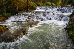 Водопады на Monasterio de Piedra, Сарагосе, Арагоне, Испании Стоковые Фото