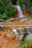 Водопады, огромные утесы, мост, Филиппины Валенсия, остров Negros Стоковые Изображения