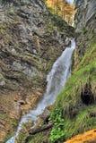 Водопады Словения Martuljski Стоковые Изображения