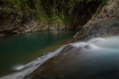 Водопады El Ataud в Пуэрто-Рико Стоковые Изображения RF