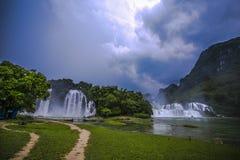 Водопады Gioc запрета Стоковое Изображение RF