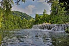 Водопады Jajce Стоковая Фотография RF