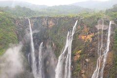 Водопады Jog на своем самое лучшее с водой пропускают Стоковые Изображения
