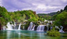 Водопады Krka Стоковое Изображение RF