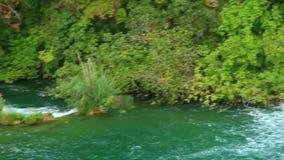 Водопады, Krka NP, Далмация, Хорватия, Европа сток-видео