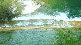 Водопады, Krka NP, Далмация, Хорватия, Европа акции видеоматериалы