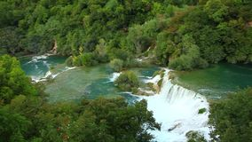 Водопады, Krka NP, Далмация, Хорватия, Европа видеоматериал