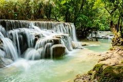 Водопады Kuang Si, Luang Prabang, Лаос Стоковые Изображения RF