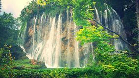 водопады plitvice национального парка озер Хорватии sostavtsy Стоковые Фото