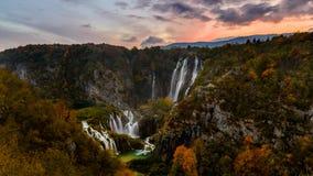 водопады plitvice национального парка озер Хорватии sostavtsy Стоковое Изображение RF