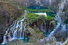 водопады plitvice национального парка озер Хорватии sostavtsy Стоковые Фотографии RF