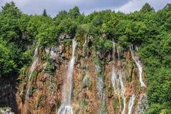 водопады plitvice национального парка озер Хорватия Стоковые Фото