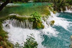 водопады plitvice национального парка озер Стоковое Фото