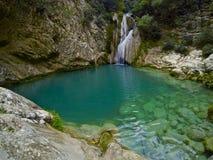 Водопады Polylimnio Стоковые Фотографии RF