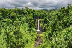 Водопады Sopoaga, Самоа Стоковое Изображение