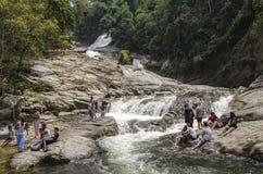 Водопад Chamang, Bentong, Малайзия стоковые фотографии rf