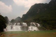 Водопад Datian (добродетельный водопад рая) в Китае Стоковое фото RF