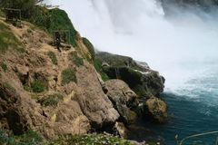 Водопад Duden в Анталье, Турции весной Стоковые Изображения RF