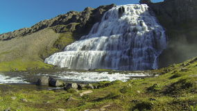 Водопад Dynjandifoss сток-видео