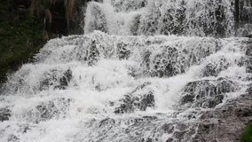 Водопад Dzhurynskyi весны каскадируя акции видеоматериалы