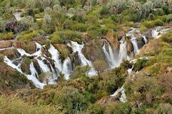 Водопад Epupa, Намибия Стоковое Фото