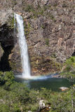 Водопад Fundao - национальный парк Serra da Canastra - мины Gerai Стоковая Фотография