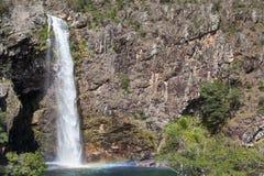 Водопад Fundao - национальный парк Serra da Canastra - мины Gerai Стоковые Фотографии RF