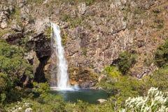 Водопад Fundao - национальный парк Serra da Canastra - мины Gerai Стоковое фото RF