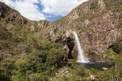 Водопад Fundao - национальный парк Serra da Canastra - мины Gerai Стоковые Изображения