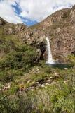 Водопад Fundao - национальный парк Serra da Canastra - мины Gerai Стоковое Изображение RF