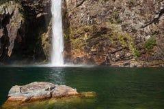 Водопад Fundao - национальный парк Serra da Canastra - мины Gerai Стоковые Фото